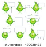 set of cartoon pear characters... | Shutterstock .eps vector #470038433