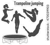 people jumping on the... | Shutterstock .eps vector #470039903