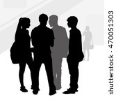 teenagers silhouettes vector | Shutterstock .eps vector #470051303