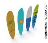 set of different color surf... | Shutterstock . vector #470055917