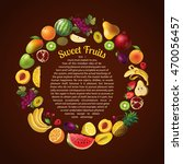 fruits round composition with...   Shutterstock .eps vector #470056457