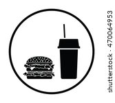 fast food icon. thin circle... | Shutterstock .eps vector #470064953