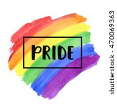 gay pride lettering on a... | Shutterstock .eps vector #470069363