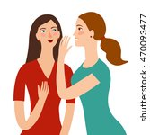 cartoon girls friends telling... | Shutterstock .eps vector #470093477