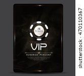 casino card design vintage...   Shutterstock .eps vector #470110367