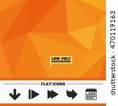 triangular low poly orange...