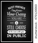 friendship quote. typographical ... | Shutterstock .eps vector #470120003