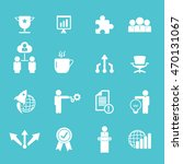 business icon set  | Shutterstock .eps vector #470131067