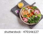 spring salad with vegetables ...   Shutterstock . vector #470146127