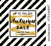 autumn sale template. fall... | Shutterstock .eps vector #470146847