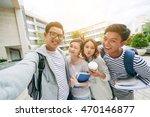 group of vietnamese students... | Shutterstock . vector #470146877