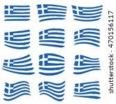 greece flag set illustration... | Shutterstock .eps vector #470156117