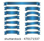 ribbon banners set. sign blank... | Shutterstock . vector #470171537