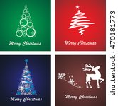 collection of christmas... | Shutterstock .eps vector #470181773