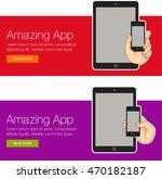 set of illustration smartphone... | Shutterstock .eps vector #470182187