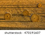 rural scene from harvest during ... | Shutterstock . vector #470191607