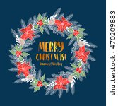merry christmas and happy new... | Shutterstock .eps vector #470209883