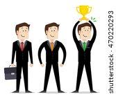 set of businessman   poses... | Shutterstock .eps vector #470220293