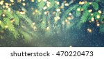 abstract christmas lights on... | Shutterstock . vector #470220473