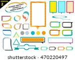 colorful frames version 2 with... | Shutterstock .eps vector #470220497