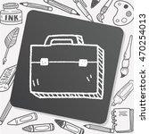briefcase doodle | Shutterstock .eps vector #470254013
