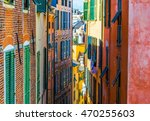 view of colorful facades of