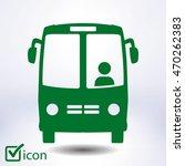 bus icon. schoolbus simbol. | Shutterstock .eps vector #470262383