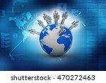 3d rendering business network | Shutterstock . vector #470272463