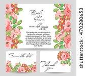 vintage delicate invitation... | Shutterstock .eps vector #470280653