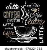 coffee collection   hand drawn... | Shutterstock .eps vector #470324783