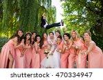 Crazy Wedding. Bride And...