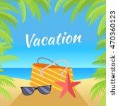 summer vacation concept banner. ... | Shutterstock . vector #470360123
