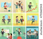 set of business concepts. flat... | Shutterstock . vector #470360543