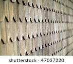 wood tile wall on the outside... | Shutterstock . vector #47037220