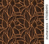 vector pattern with leaves.... | Shutterstock .eps vector #470380493