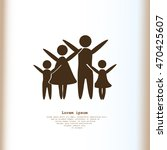 family vector icon | Shutterstock .eps vector #470425607