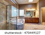 luxury bathroom interior with... | Shutterstock . vector #470449127
