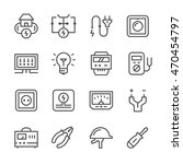set line icons of electricity | Shutterstock .eps vector #470454797