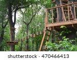 adventure climbing high wire...   Shutterstock . vector #470466413