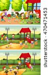 many children playing in the... | Shutterstock .eps vector #470471453