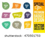 special offer logo badge and... | Shutterstock .eps vector #470501753