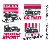 set of four sport cars logo ... | Shutterstock .eps vector #470504927