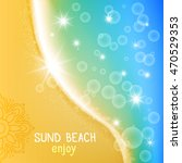 the wave seashore. empty sand...   Shutterstock .eps vector #470529353