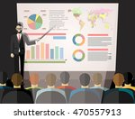 businessman in suit and tie... | Shutterstock .eps vector #470557913