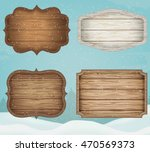 4 realistic wooden signs set.... | Shutterstock .eps vector #470569373