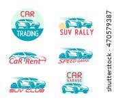 car logo suv emblem set... | Shutterstock .eps vector #470579387