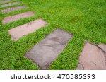 walk path with green grass... | Shutterstock . vector #470585393