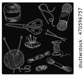 items for needlework  vector ... | Shutterstock .eps vector #470596757