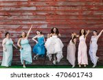 bride in leather boots and... | Shutterstock . vector #470601743