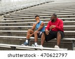 coach spending time mentoring a ... | Shutterstock . vector #470622797